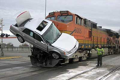 Car accident with train