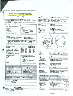 emergency physician record